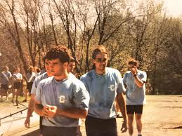 o rourke center during his days rowing crew at columbia