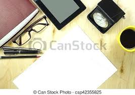 Top office table cup Pen Office Table Top Office Table Desk Top View With Tablet Cup Of Coffee Pen Pencil Glasses Simulateur Office Table Top Simulateur