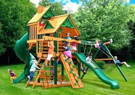 lifetime swing sets swings kids gorilla outdoor playsets costco wood