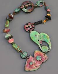 rusty garage necklace by terri wlaschin featured on jewelry making journal