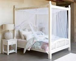 four poster bedroom furniture. Hamptons White Queen Size Four Poster Bed With Bedside Tables Bedroom Furniture