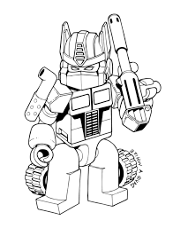 Lego Transformers Coloring Pages Bestappsforkidscom