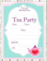 Tea Invitations Printable Vintage Bridal Shower Tea Party Invitation Template 1 Mad Hatter
