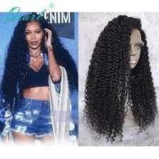 Glueless Full <b>Lace</b> Wigs Malaysian Remy Hair <b>Kinky Curly</b> 150 ...