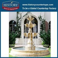 villas outdoor garden travertine water fountain