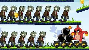 Angry Birds Fried Zombies - BURN ALL ZOMBIES WITH ONE BIRD BY PUSHING TNT  BOMB KID GAME! - YouTube