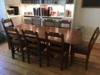 dining table french farmhouse antique 8 matching chairs