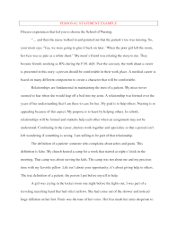 Nursing Personal Statement Examples What To Write In A Personal Statement For Nursing School Personal