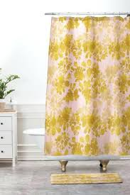 orange and pink shower curtain pink shower curtains deny designs gold shower curtain and mat hot