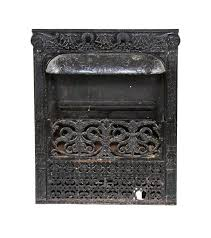 original century antique american victorian era interior residential fireplace gas insert or grate designed and fabricated by the dawson brothers chicago