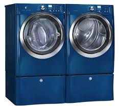 blue washer and dryer. Simple Blue Electrolux IQ Touch Blue Steam Front Load Washer And ELECTRIC Dryer  Laundry Set With Pedestals EIFLS55IMB_EIMED55IMB_EPWD15MB Throughout And