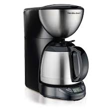 Looking to purchase the best thermal coffee maker for your home or office? 10 Cup Programmable Coffee Maker With Thermal Carafe Black Stainless 49855 Hamiltonbeach Com