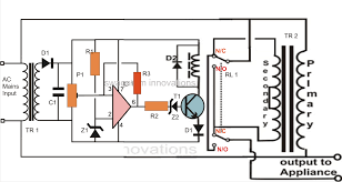 automatic voltage stabilizer circuit for tv sets and refrigerator 220v voltage stabilizer circuit diagram