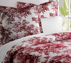33 fancy ideas red toile duvet cover sweetgalas queen set and white king melange