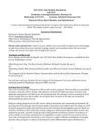 Gsu 1010 Fall Syllabus Business Ethics Moral Markets
