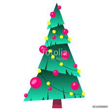 Decorating Christmas Tree With Balls Enchanting Decorated Christmas Tree With Balls And Lamps Merry Christmas
