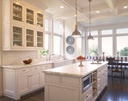 how to choose kitchen lighting. Metal Lights For Over Kitchen Table With White Island And Modern Recessed Lights. Lights: How To Choose Lighting O
