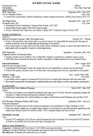 Resume Models Entry Level Software Engineer Resume Resume Models