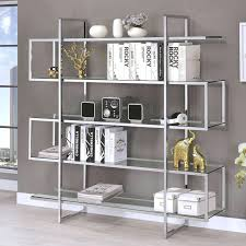 contemporary metal furniture. Metal And Glass Bookcase Coaster Bookcases Contemporary Fine Furniture With Doors India