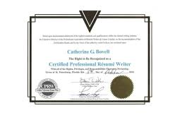 Certified Resume Writer Amazing Certified Professional Résumé Writer CPRW Certification