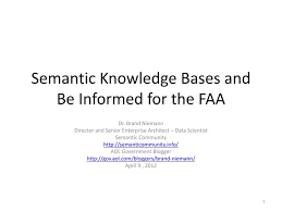 Ppt Semantic Knowledge Bases And Be Informed For The Faa