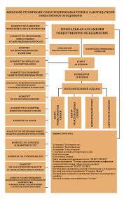 Организационная структура  в период между ассамблеями осуществляют Совет Союза Президиум Союза и Председатель Контролирующим органом является контрольно ревизионная комиссия