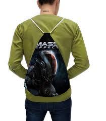 <b>Рюкзак</b>-мешок с полной запечаткой <b>Mass</b> Effect #2451335 ...