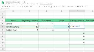 Basic Inventory Spreadsheet Google Sheets Inventory Tracking Template Step By Step