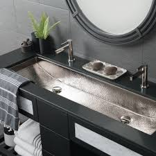 Rectangular Bathroom Sinks Trough 48 Double Basin Rectangular Bathroom Sink Native Trails