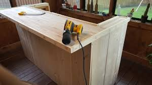 diy bar. Paneling And Bar Top Put In. I Wish Took Some More Pics Of This Process. The Is From A Desk Build That Did While Back. Diy L