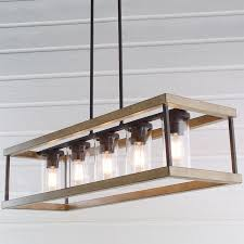 indoor outdoor rectangular rustic chandelier