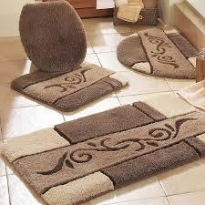 winsome bathroom mats black and beige rugs fleurdelissf