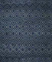 rugsville moroccan beni ourain double diamond wool navy rug 37024