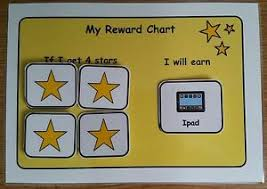 Details About A5 Reward Chart Pre School Visual Aid Support Sen Adhd Asd Autism Spd