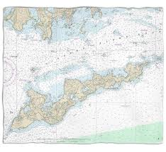 Ny Fishers Island Ny Nautical Chart Blanket Nautical
