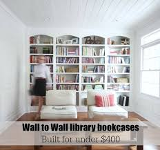 wall to wall bookcases plans from s sawdustgirl com
