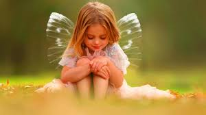 Cute Little Girl Is Having Wings On ...