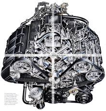 automotive illustration cutaway of acura nsx v engine acura nsx engine cutaway illustration
