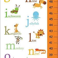 Amazon Com Canvas Growth Chart Alphabet Animals Theme