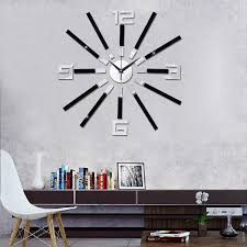 diy wall clock modern art 3d self adhesive sticker design for home office room decor