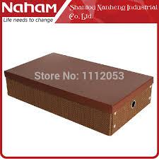 Decorative Shoe Box NAHAM Weave paper folding shoe box storage boots household 24