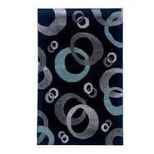 milan collection black and turquoise 8 ft x 10 ft indoor area rug