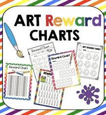Art Class Reward Behavior Charts Elementary Art Lesson