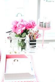 pink office desk. Office Design Pink Desk Mirror Accessories