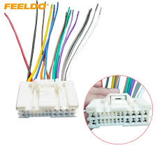 feeldo 1pc car audio stereo wiring harness adapter plug for hyundai feeldo 1pc car audio stereo wiring harness adapter plug for hyundai kia 05~