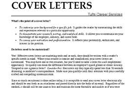 what cover letters what should be in a good cover letter