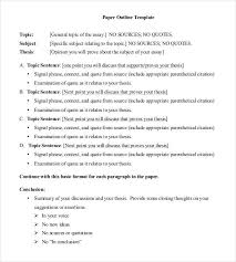 essay outline sample example format  essay paper outline template