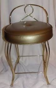 vanity stools and chairs. Mid Century Vanity Chair Gold Toned Hollywood Regency EUC In Antiques, Furniture, Benches \u0026 Stools, Post-1950 | EBay Stools And Chairs .