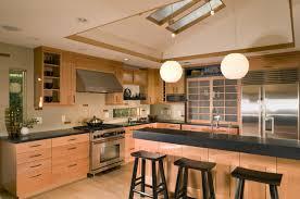 Japanese Style Kitchen with Skylights asian-kitchen