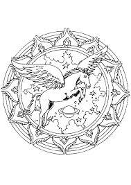 Kleurplaat Mandala Paard